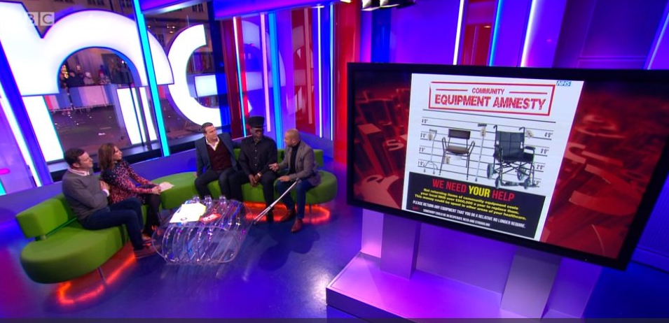 Community equipment amnesty on BBC's The One Show