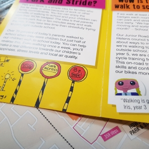 Living Streets – Park & Stride Primary School Leaflets
